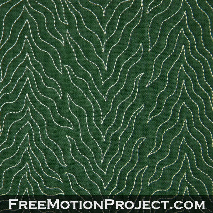 Free Motion Quilting Filler 31 Cartoon Tree