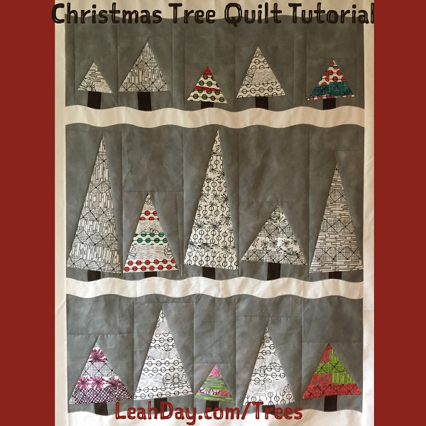 Wonky Christmas Tree Quilt Tutorial Free Motion Quilting Project