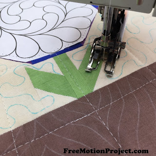 How to Quilt a Blooming Nine Patch Block - Free Motion
