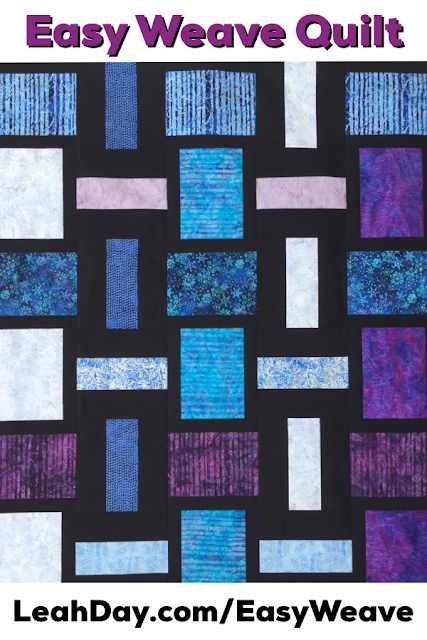 Easy Weave Free Quilt Pattern - Free Motion Quilting Project