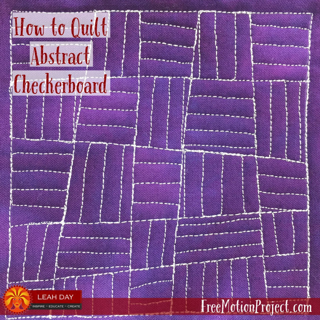 How To Quilt Abstract Checkerboard Design 496 Free