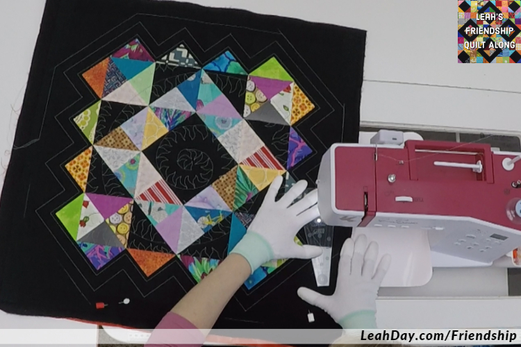 Ruler quilting on a home machine