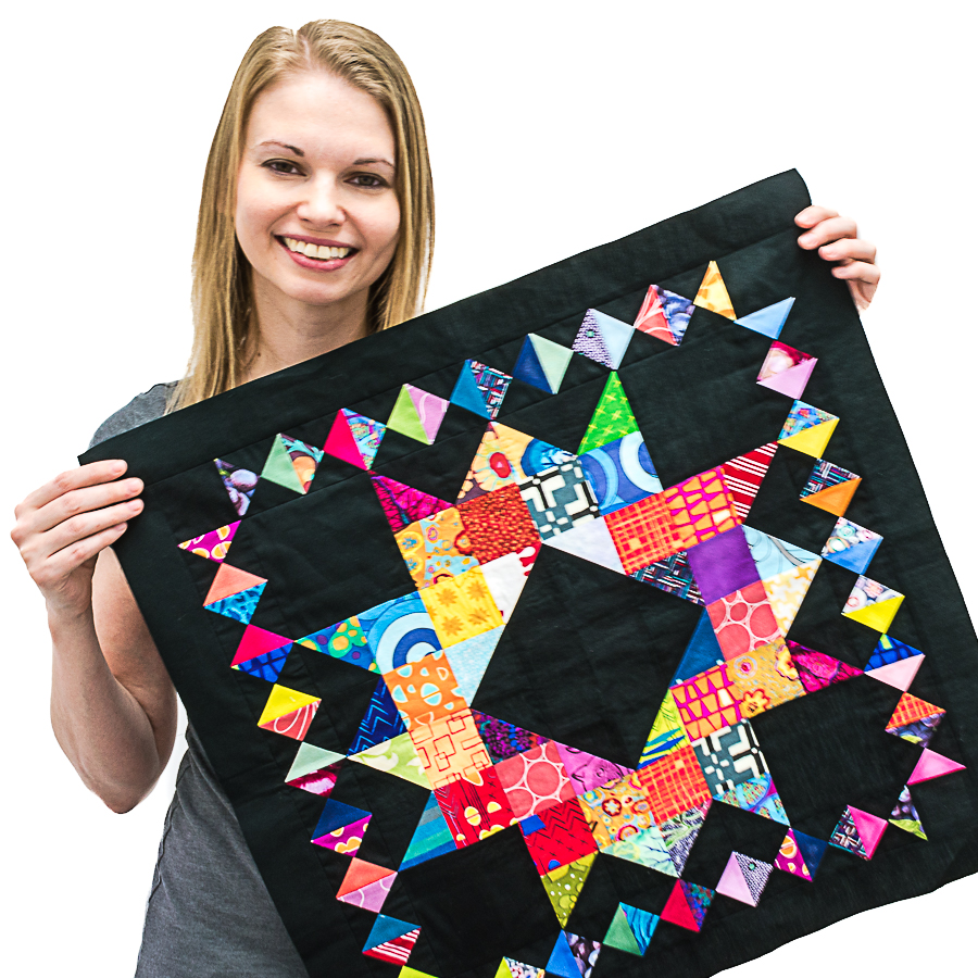 Piece Crown of Scraps Block with Leah Day