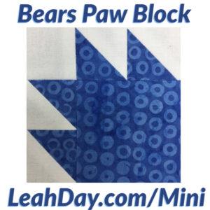Bears Paw Quilt Block Tutorial